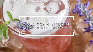 Cold Foam Infused With Lavender Simply Syrup - Product Demo Video Recipe