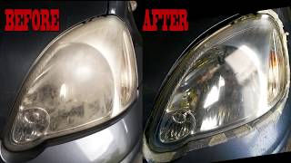 Download Youtube: Headlight Restore at home (anyone can do this!)