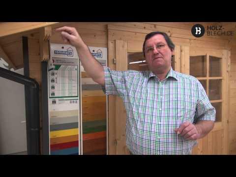 Gartenhaus streichen - So geht's richtig!