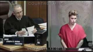 Justin Bieber eyes change in court (Original footage) SMFH