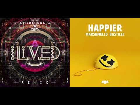 OneRepublic, Arty, Marshmello, Bastille - I LIVED x HAPPIER (Hadrix Mashup)