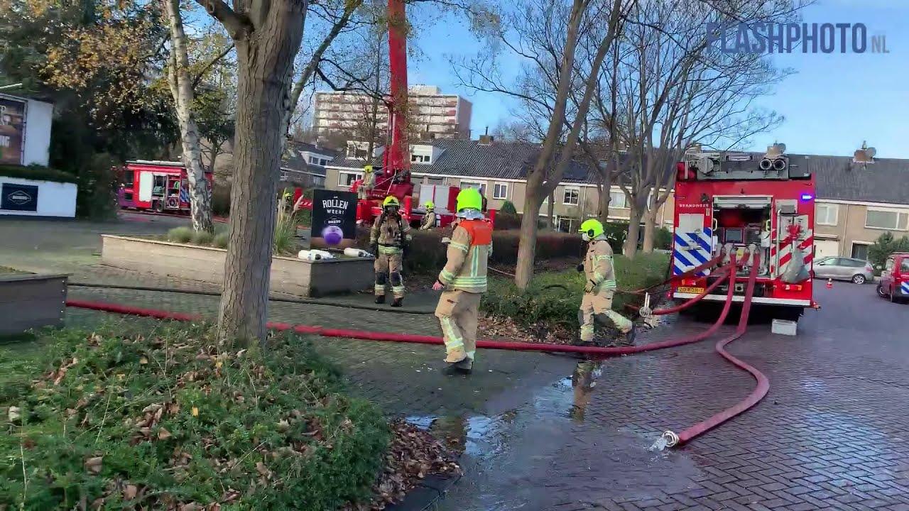 Zeer grote brand bij DOK99 – Anna van Saksenweg Vlaardingen