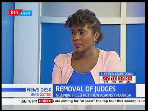 Whether the petition of judges Mwilu and Lenaola meets any legal merit for their removal