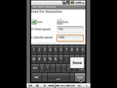 Video of Cnc Multi Calculator