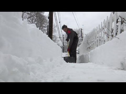 Residents used shovels and snow blowers to dig out of one of the biggest snow storms of the season that dumped more than a foot of precipitation accross parts of the northeastern U.S. overnight Monday. (March 4)
