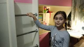 Детская кровать-чердак с рабочей зоной и угловым шкафом К10-5 Merabel от компании Мерабель - видео