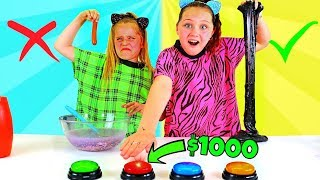 DON'T PUSH THE WRONG BUTTON SLIME CHALLENGE!! WINNER Gets $1000!!!