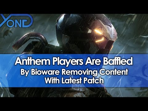 Anthem Players Baffled By Bioware Removing Content With Latest Patch