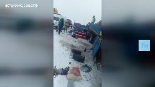 Видео смертельной аварии на трассе М7 под Казанью