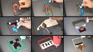 COFFIN DANCE MINECRAFT&ROBLOX PIGGY PANCAKE ART - NOOB VS PRO, STEAVE, CREEPER, PIGGY ETC
