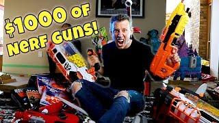 I SPENT $1000 ON NERF GUNS