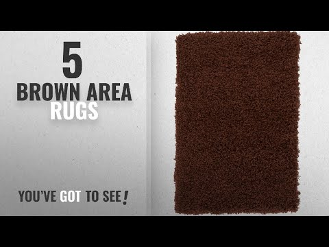 Top 10 Brown Area Rugs [2018 ]: Unique Loom Solid Shag Collection Chocolate Brown 2 x 3 Area Rug (2'