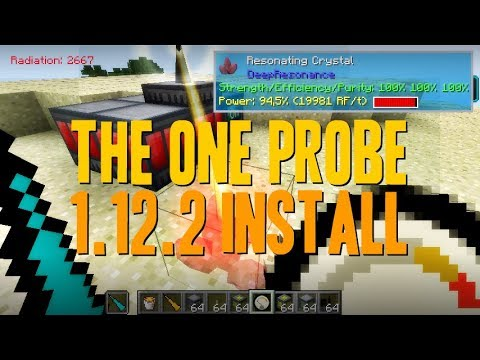 THE ONE PROBE MOD 1.12.2 minecraft - how to download and install [like waila mod] (with forge)
