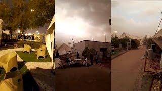 Video Detik-detik Hujan dan Badai Pasir Melanda Arafah