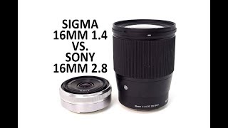 Sigma 16mm 1.4 compared to Sony 16mm 2.8 - which is the best wide angle option for your Sony A6000?