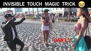 Touching girls breasts using Magic Trick( part 2)-Julien Magic