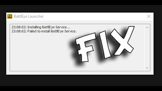 Failed to install BattleEye Service FIX 100% working (PUBG)