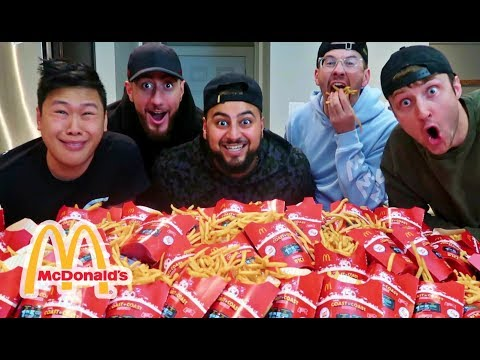 EPIC 100 McDONALD'S FRENCH FRIES CHALLENGE!!