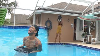 ANGRY GIRLFRIEND THROWS PS4 IN THE POOL!!! PRANK GONE WRONG!!