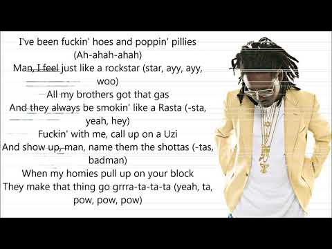 Post Malone - Rockstar ft. T-Pain, Joey Bada$$ (Remix) [LYRICS]