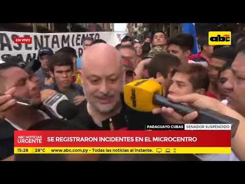 Paraguayo Cubas habla a sus adherentes