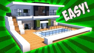 Minecraft How To Build A Small Modern House Tutorial 2017 Mansion Minecraftvideos Tv