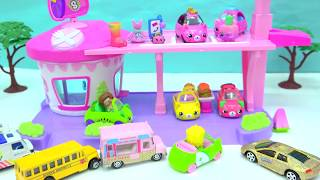 Cutie Cars Drive Thru Diner + Limited Edition Car + Shopkins Surprise Blind Bags
