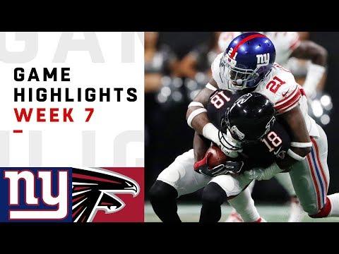 Giants vs. Falcons Week 7 Highlights | NFL 2018