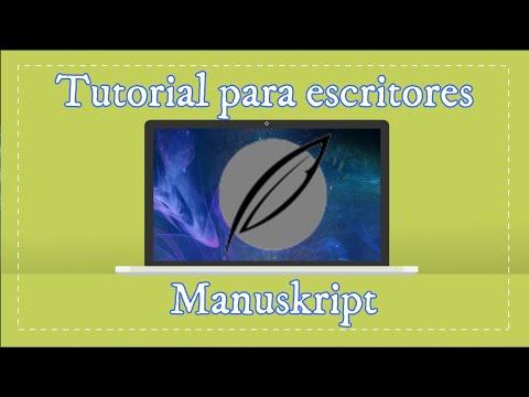tutorial manuskript