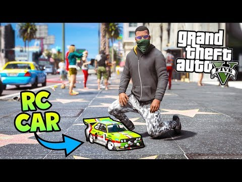GTA 5 Mods - So I Robbed A Bank With My RC CAR!! (Evade Gameplay)