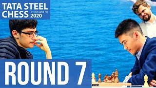 Tata Steel Chess Round 7 with GM Robert Hess and WIM Fiona Steil-Antoni