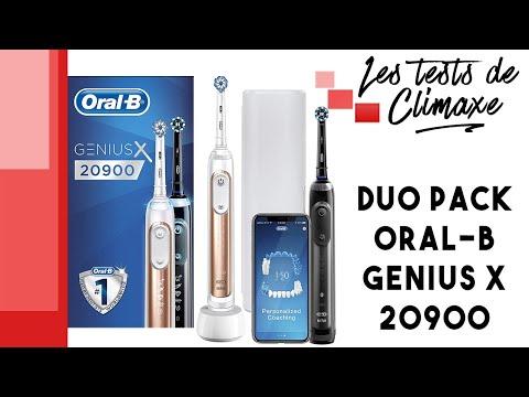 Test d'un pack de 2 brosses à dent électriques Oral-B Genius X 20900