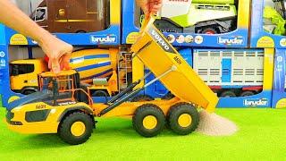 Lastwagen,Feuerwehrauto,Traktor,Bagger,LKW,Holztransporter,Gabelstapler und Spielzeug für Kinder