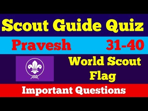Scout Guide Quiz Questions Answers Pravesh|History of Scouting and