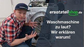 Waschmaschine laut - Waschmaschine macht Geräusche - Fehleranalyse