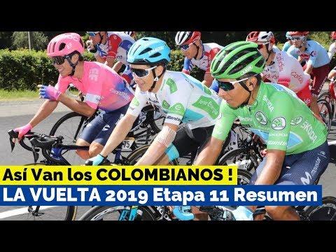 Asi Van los Ciclistas Colombianos - LA VUELTA A ESPAÑA 2019 Etapa 10 Clasificacion General y Resumen