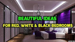 Beautiful Ideas For Red, White & Black Bedrooms