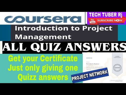 Introduction to project Management Coursera Course Quiz Answers ...