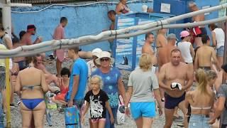 🔴🔴 Отдых в Крыму на пляже на море. Крым 2018.Алушта..Туристы в Крыму.