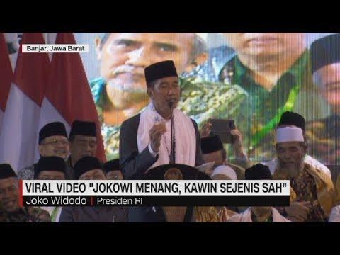 """Tanggapan Presiden Soal Viral Video """"Jokowi Menang, Kawin Sejenis Sah"""""""