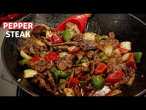 Easy way to make  the tastiest  Pepper Steak recipe for your family  -  cooking stir fry