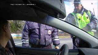 Беспредел и ВЗЯТКИ на посту ДПС Б. Чапурники ( Волгоград ) ч.1
