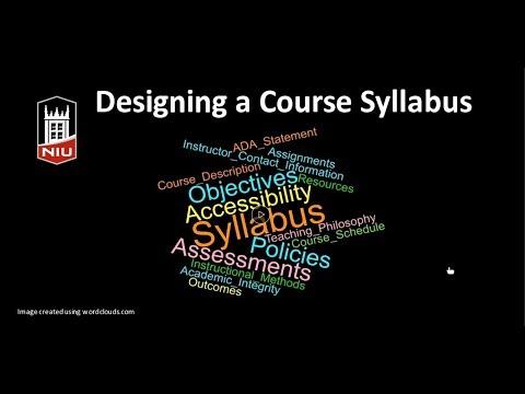 Designing a Course Syllabus - YouTube