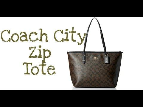 Coach City Zip Tote - Signature Tote | Bag Review