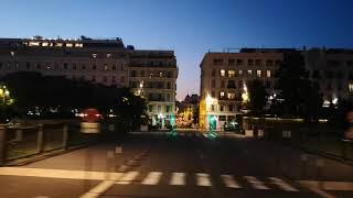 Лазурный берег Франции...,Ночная экскурсия, Ницца, Едем на автобусе, город прекрасен