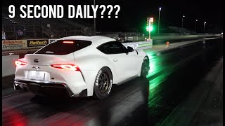 2020 Supra Big Turbo Hits The Drag Strip! (Shocking Results!)