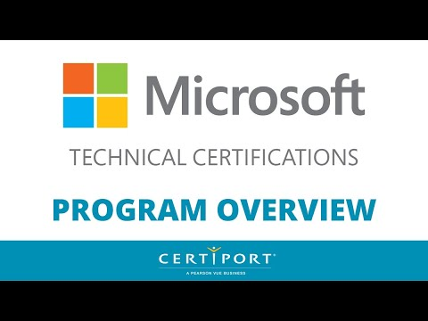 Microsoft Technical Certifications (MTC) Program Overview - YouTube