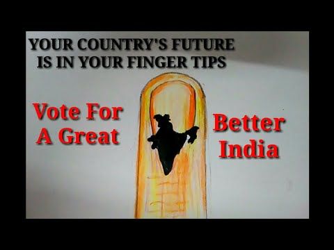 How to draw vote for a better India poster || Election drawing for kids || Your voice your choice