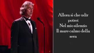 Il Mare Calmo Della Sera - Andrea Bocelli - (Lyrics)