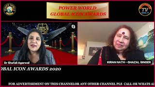 Power World Global Icon Awards 2020- Kiran Nath - Ghazal Singer